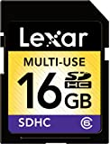 Lexar Multi-Use 16GB SDHC Flash Memory Card (LSD16GASBNACL6)