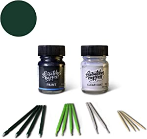 ScratchesHappen Exact-Match Touch Up Paint Kit Compatible with Alfa Romeo Dark Green/Racing Green/Verde Visconti (800/A/PGB) - Essential
