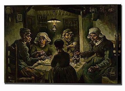 Vincent Van Gogh comedores de patatas - lienzo impresión de Lienzo ...
