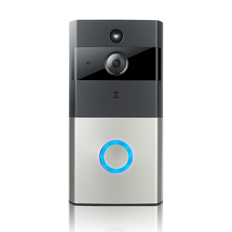 Video-Türklingel, Smarte Türklingel 720P HD-Wifi-Sicherheitskamera Mit 32G Speicher Speicher, Echtzeit-Bidirektionaler Anruf Und Video