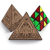 aGreatLife® El Cubo Triángulo Pyraminx - Puzzle Cube Pyramid Cubo Magico con Pegatina de Fibra de Carbono Velocidad - El Más Vendido Pyramide Speed Cube