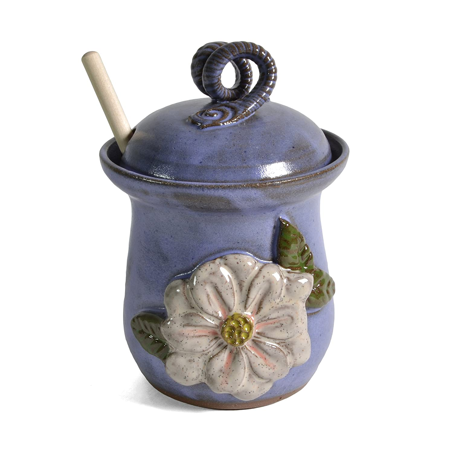 MudWorks Pottery Magnolia Honey Pot MWMAGHONEY