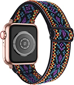 OULUCCI Stretchy Loop Strap Compatible for Apple Watch Bands 44mm 42mm iWatch SE & Series 6/5/4/3/2/1 Stretch Elastics Wristbelt
