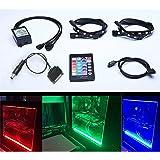 Tingkam Full Kit RGB 5050 SMD 2pcs 18leds 30cm LED Strip Light with 24 key Remote Controller for Desktop PC Computer Mid Tower Case