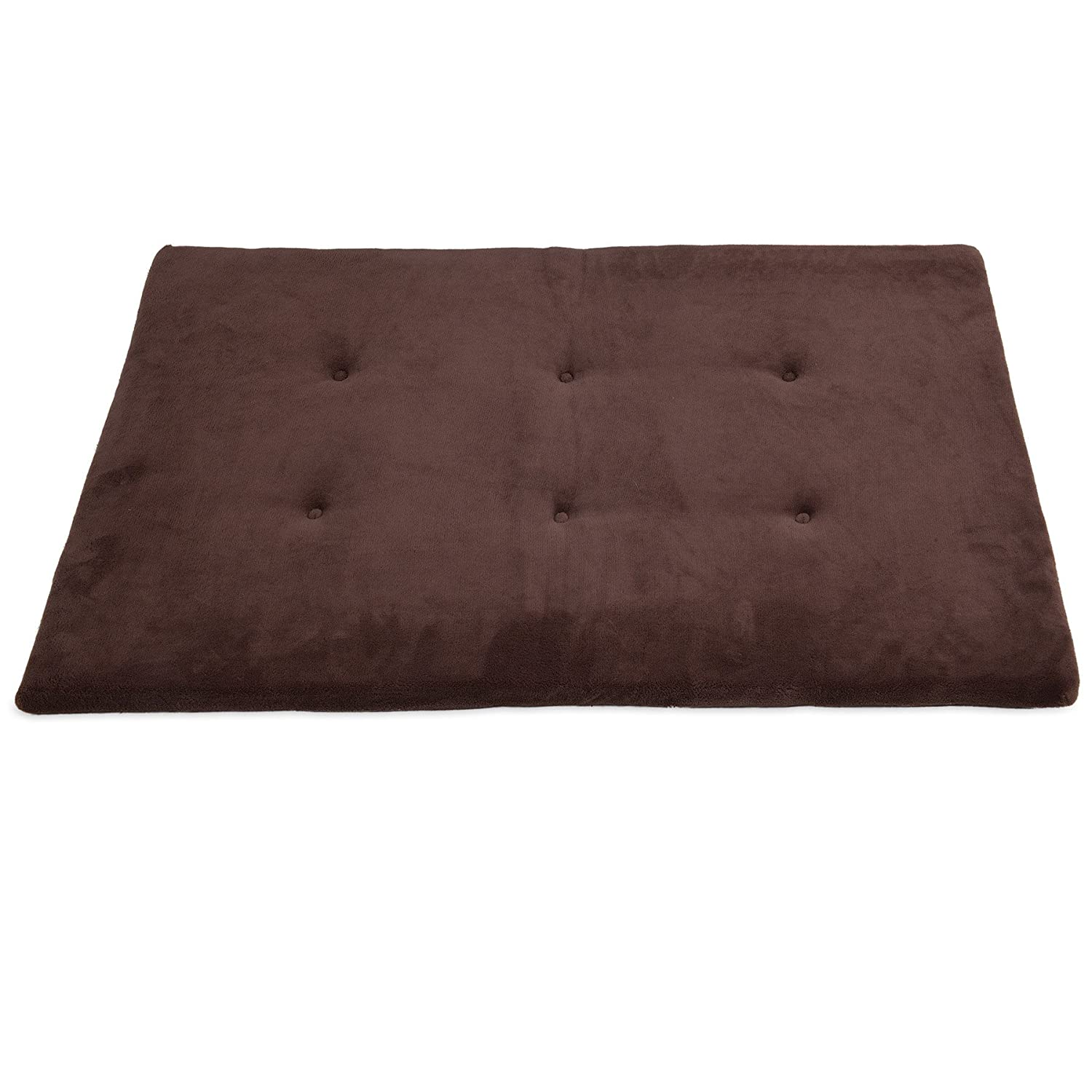 Brown Fits Most 42 Inch Cratesup to 90lbsPrecision 252775446FD 47X28Inch Snoozzy Mat Cargo Kennel, Tan Baby Terry