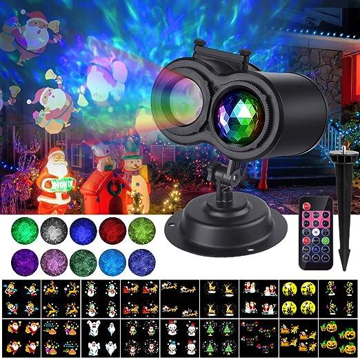 luces de proyector navidad,VIFLYKOO luz de proyección de nieve efecto Proyector de Luces Navidad luce de proyector exterior e interior con control ...