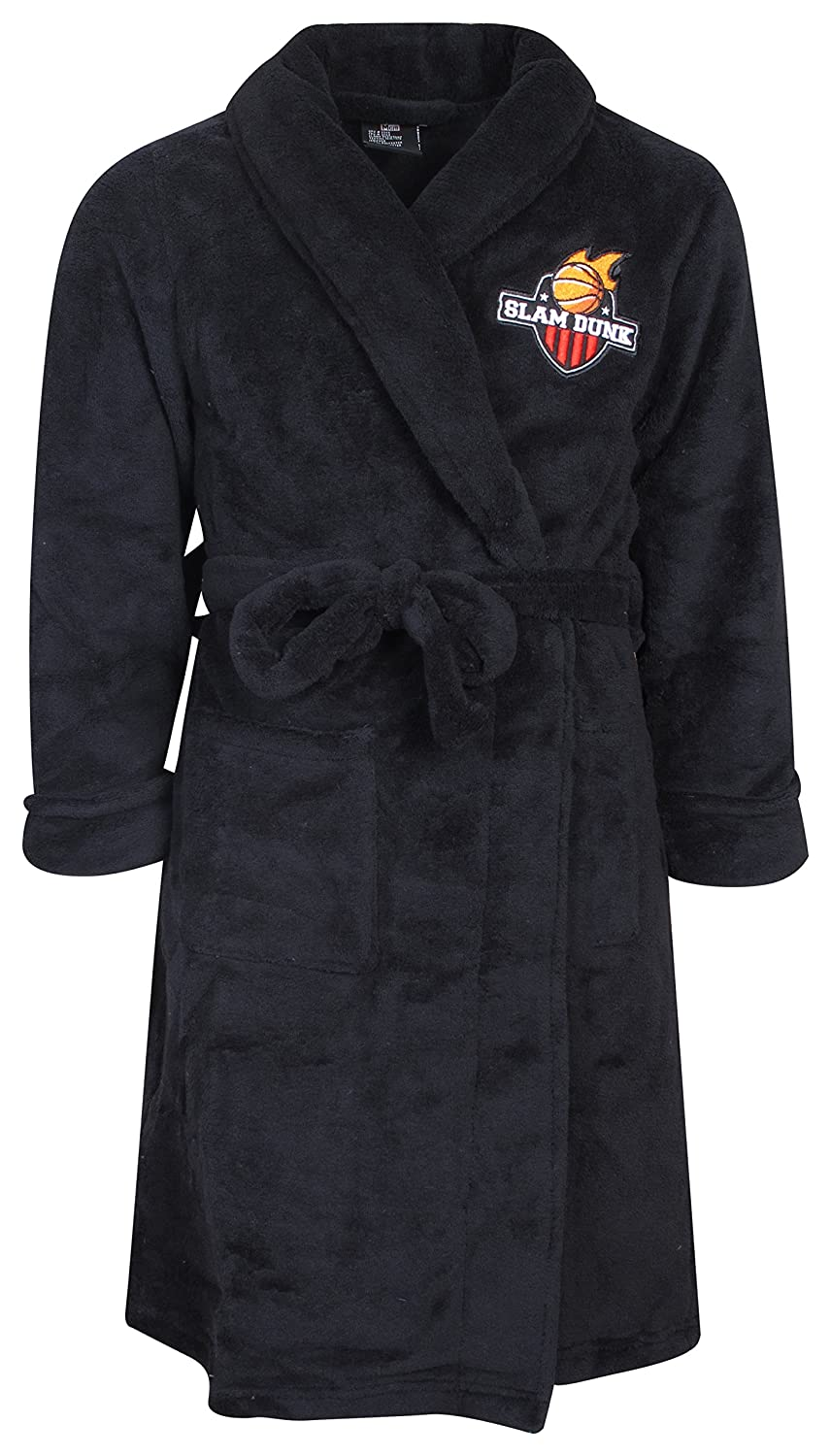 Mac Henry Boys Coral Fleece Solid Robe (More Colors Available) Black Slam Size 4/5