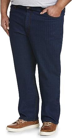 Size 48W x 30L Black Essentials Men/'s Big /& Tall Relaxed-fit Casual