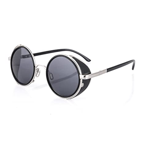 Cyber ronde goggles de soleil des Lunettes de Steampunk Antique Copper (Goggle Nr5) zHt2FSDJG9