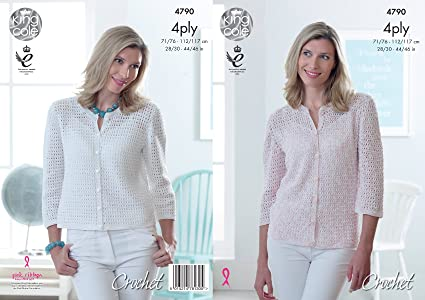 Amazon King Cole Ladies 4ply Crochet Pattern Womens Long Or