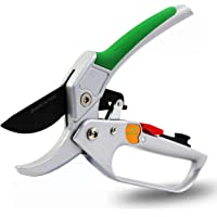 GRÜNTEK Snoeischaar CONDOR 200 mm, automatische ratel, Ø20 mm, SK5 blad, aluminium handgrepen met PVC coating, incl…