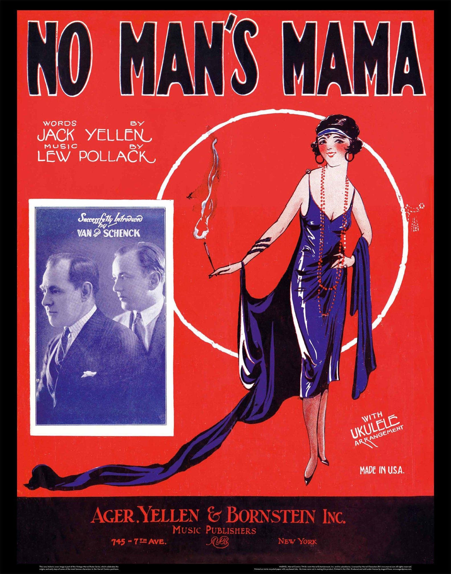 No Man's Mama: Vintage Sheet Music Posters: Asgard Press