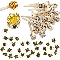3 x 4 in Honeycomb Now Designs Stone Honey Pot 10 oz Capacity