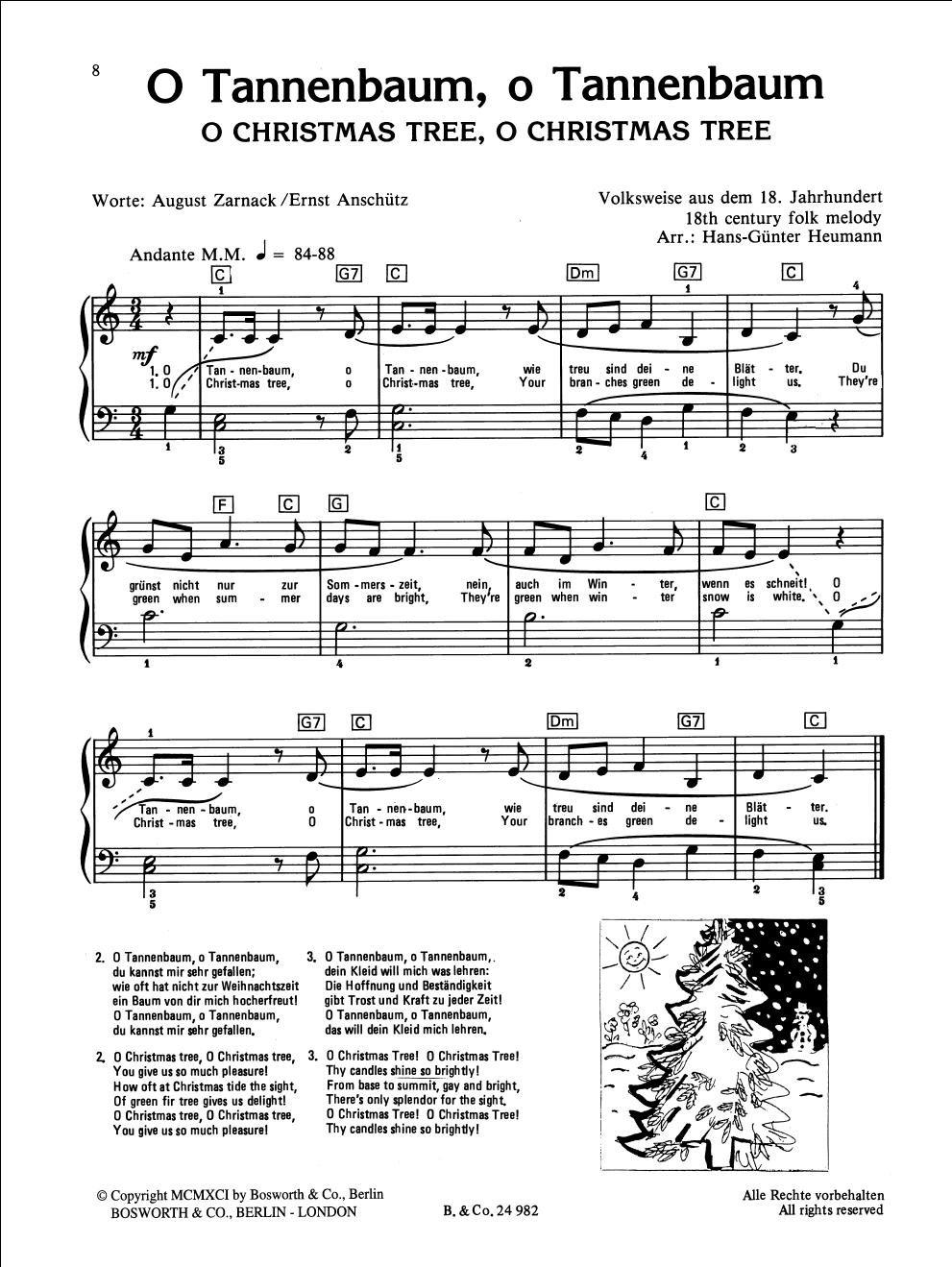 Oh Tannenbaum Text Englisch.Children S Christmas Piano Amazon Co Uk Hans Gunter Heumann