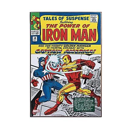 Silver Buffalo Mc8636 Marvel Iron Man Tales Of Suspense Wood Wall Art 13x 19 Inches
