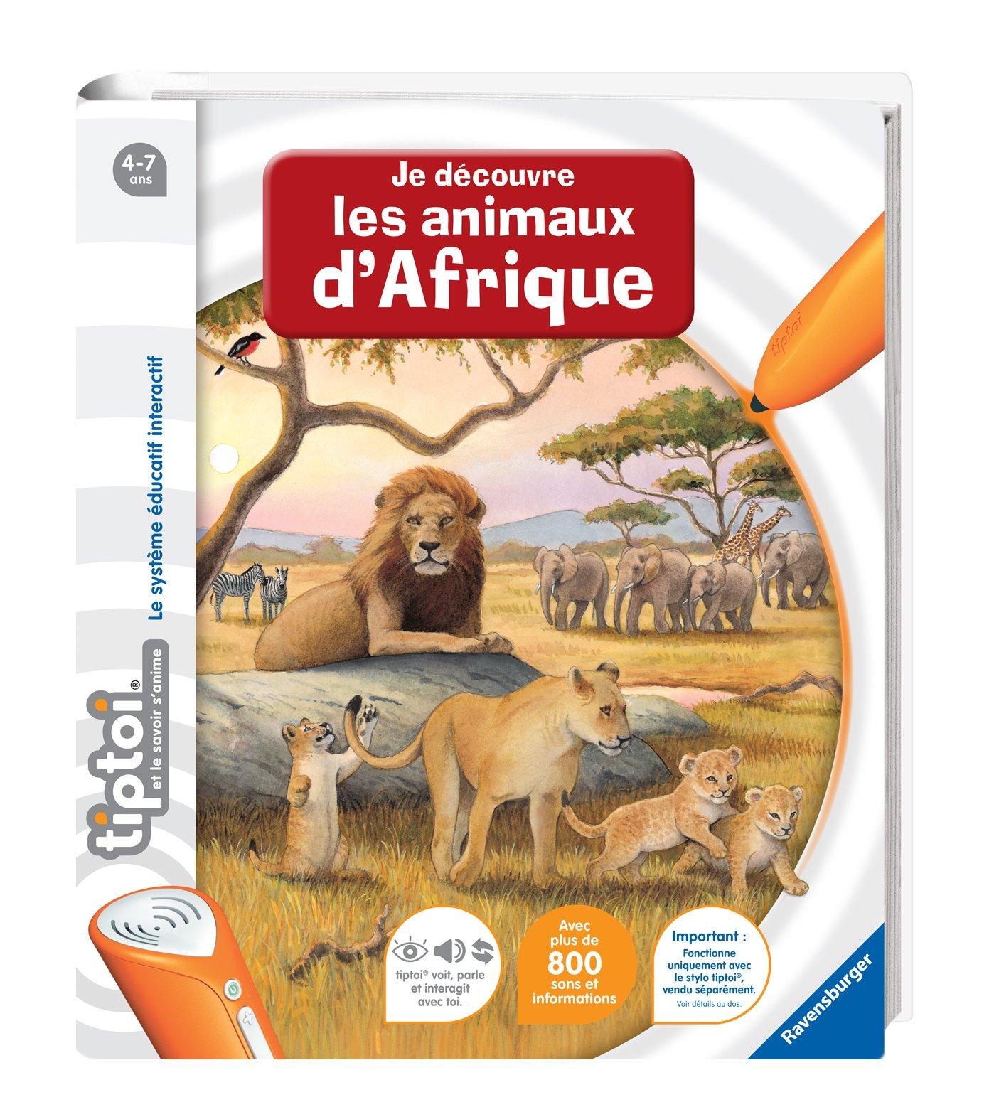 Ravensburger - 00592 -  Jeu Éducatif Électronique - Tiptoi - Livre - Je Découvre les Animaux d'afrique product image
