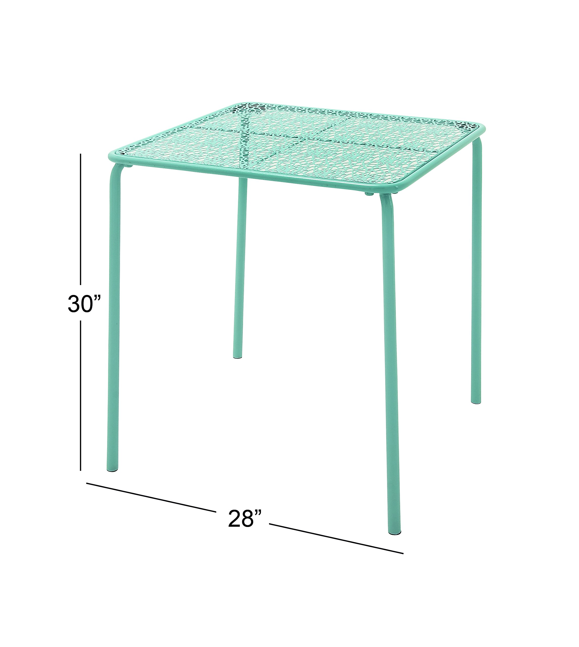 """Deco 79 65448 Metal Outdoor Table, 28"""" x 30"""" - Suitable to use as a decorative item Unique home decor This product is manufactured in China - patio-tables, patio-furniture, patio - 810UU2WerbL -"""