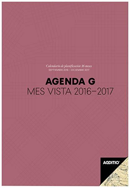 Additio P182 - Agenda G 2016-2017 mes vista para el profesorado, color lila