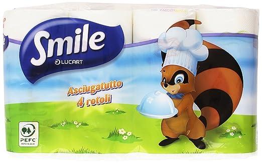 7 opinioni per Smile- Asciugatutto, 100% pura Cellulosa- 4 Rotoli