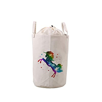 LifeCustomize Large Laundry Hamper Baskets Fantasy Rainbow Unicorn Clothing Storage Bins Boxes Toy Organizer Nursery Folding Baskets with Handles : Baby
