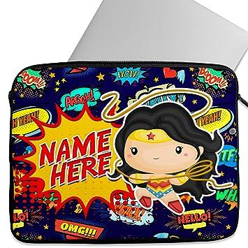 KRAFTYGIFTS Personalizado de Neopreno Laptop Sleeve Wonder ...