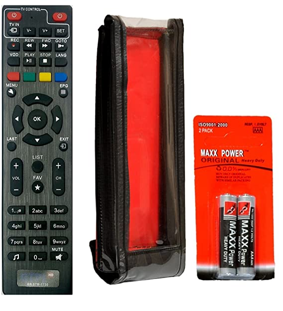 SaleOn Remote Control for GTPL-162 Set Top Box (Black)