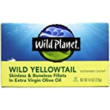 Wild Planet, Wild Yellowtail Fillets in Extra Virgin Olive Oil, 4.4 Ounce