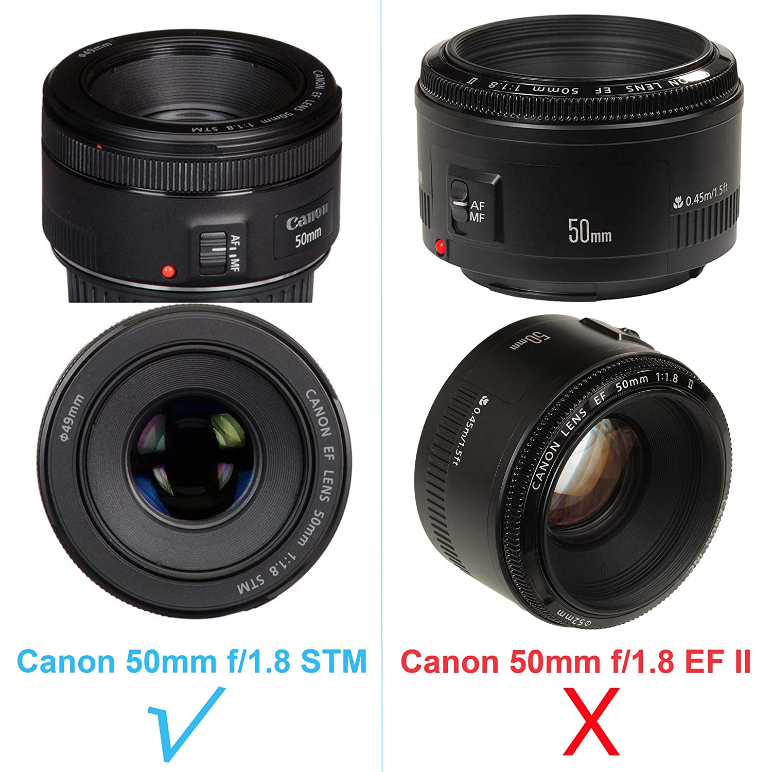 JJC LH-68 Dedicated Bayonet Lens Hood for Canon EF 50mm f//1.8 STM Lens Replacement of Canon ES-68 Lens Hood Canon 50mm 1.8 STM Lens Hood