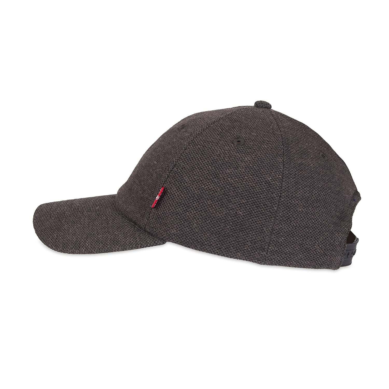 318b975c39525c Levi's Men's Petite Brushed Twill Baseball Dad Hat, Black Pique, One Size  at Amazon Men's Clothing store: