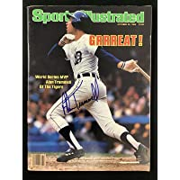 $181 » Alan Trammell Signed Sports Illustrated 10/22/84 No Label Tigers Autograph JSA - Autographed MLB Magazines