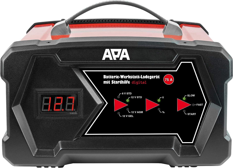 Apa 16631 Werkstatt Ladegerät Mit Starthilfe Digital Auto