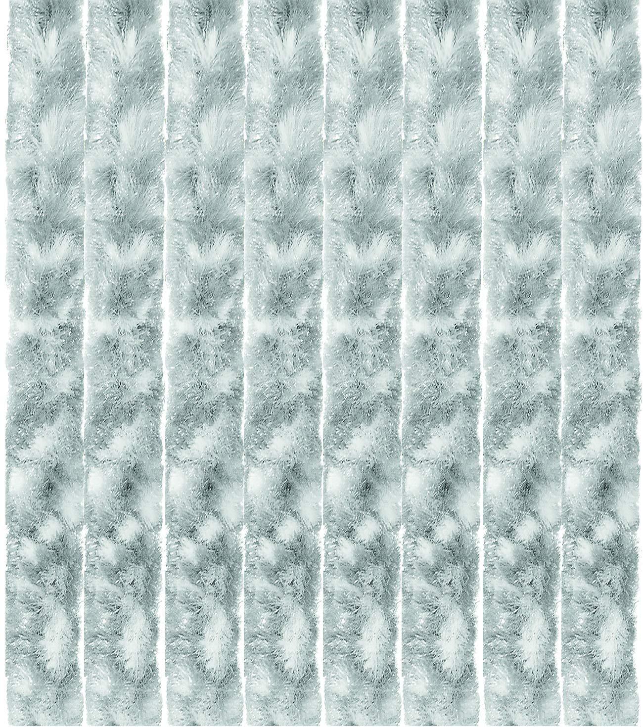 Arsvita Flausch-Vorhang, viele Variationen, Größe  140x200 cm, Farbe  hellgrau-weiß B00XUA9LRK Vorhnge