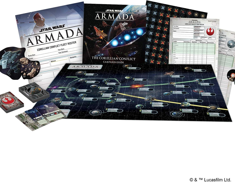 Fantasy Flight Games FFGSWM25 Corellian Conflict Campaign Exp: Star Wars Armada, Multicolor: Amazon.es: Juguetes y juegos