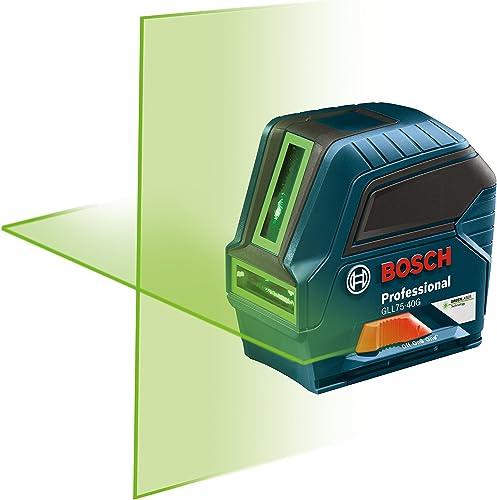 Bosch 75 Green-Beam Self-Leveling Cross-Line Laser GLL75-40G