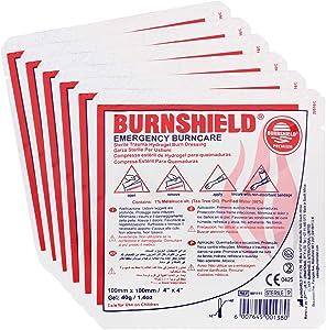 """Burnshield 4"""" X 4"""" Burn Dressing, Sterile (Pack of 6)"""