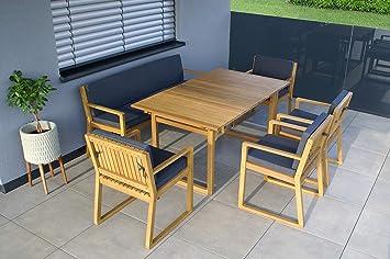 Gartenmöbel Holz Set Mit Bank ~ Amazon.de: vanvilla gartenmöbel set holz sitzgruppe garten garnitur