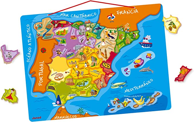Janod- Puzzle magnético de España (Juratoys J05527): Amazon.es ...