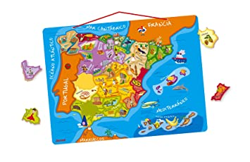 Janod J05527 Magnetic Spain Map: Amazon.co.uk: Toys & Games