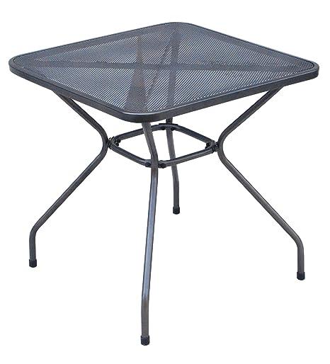 Tavolo Ferro Da Giardino.Tavolo Da Giardino Quadrato In Ferro Antracite