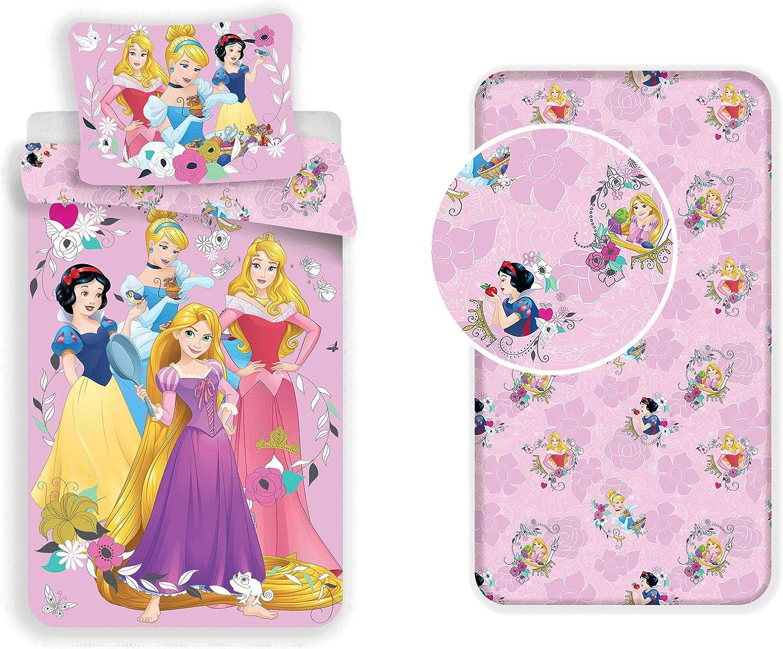 LesAccessoires Disney Princesas Juego de cama de 3 piezas ...