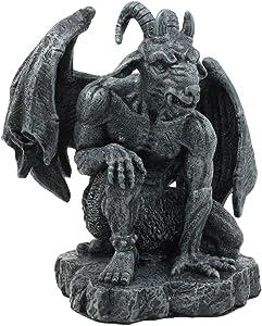 Ebros The Winged Guardian Baphomet Sabbatic Goat Gothic Gargoyle Statue Faux Stone Resin Sculpture