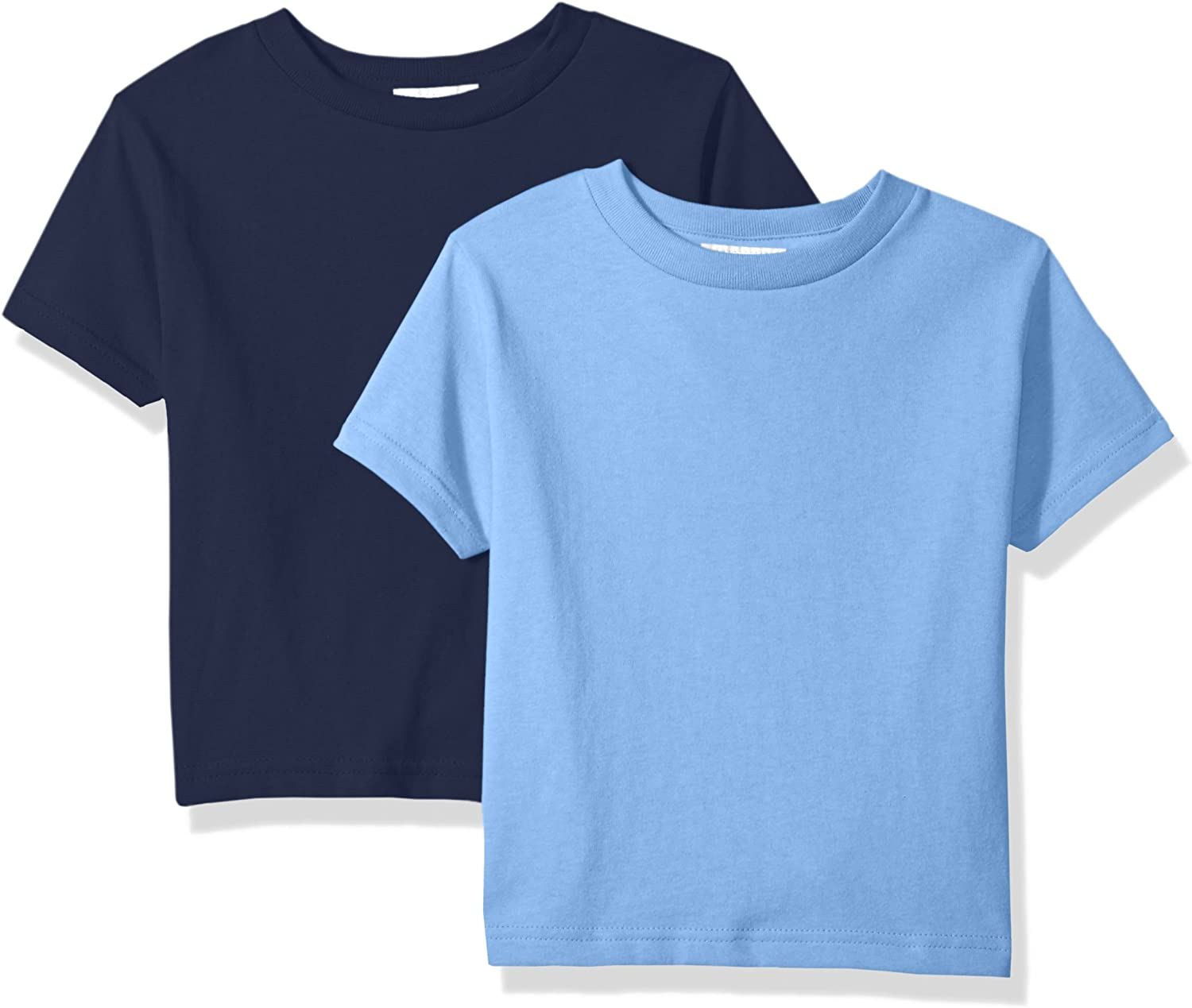 Clementine  Unisex Baby Boys Little Everyday Toddler T-Shirts Crew 2-Pack