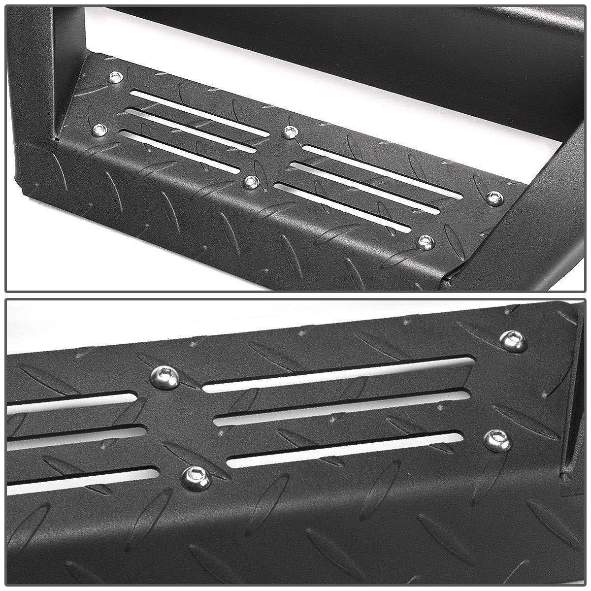 Ajaa 2009-2014 Fit Ford F150 Crew Cab Hoop Black Running Board Hoop Style Nerf Bars | Side Steps | Side Bars
