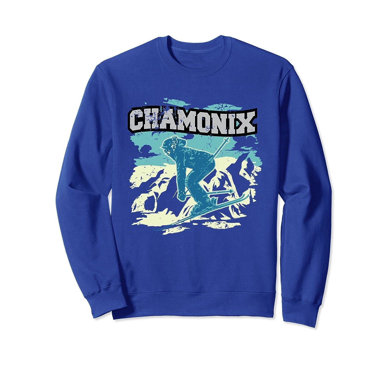Chamonix Skiing Sweatshirt - France Ski Apparel-alottee gift
