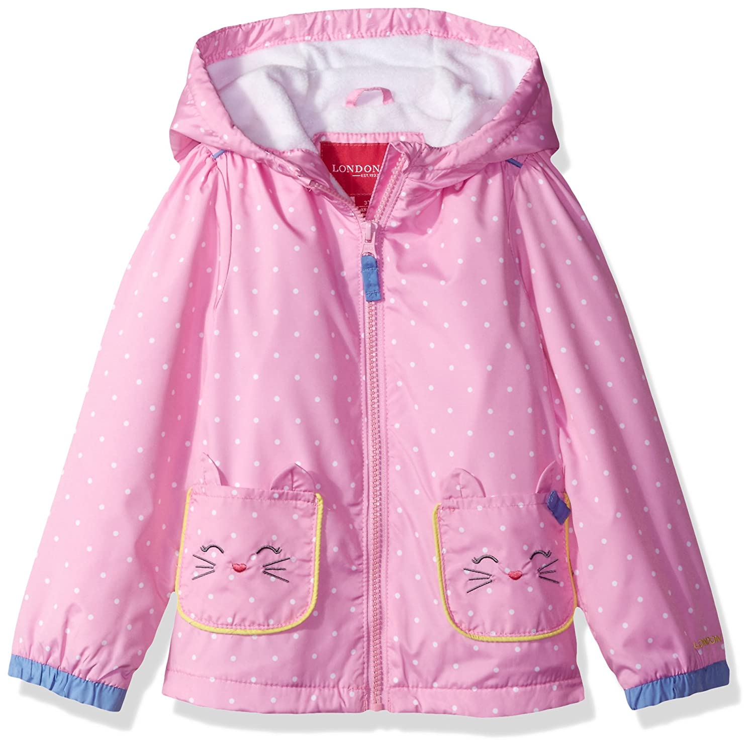 London Fog Baby Girls' Midweight Kitty Ears Jacket London Fog (Amerex) Children' s Apparel L117G20