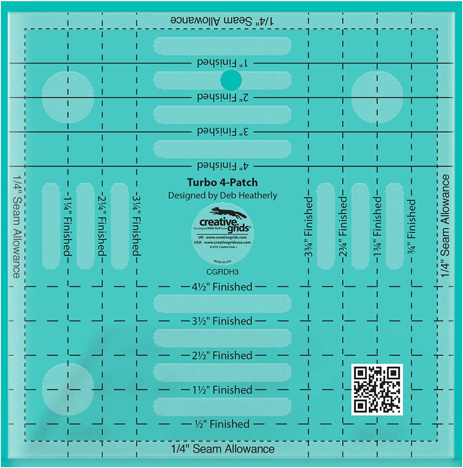 Creative Grids Turbo 4-Patch Quilting Template