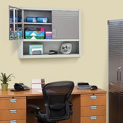 Amazon.com: Seville Classics UltraHD Wall Cabinet With Open Shelf  (Granite): Kitchen U0026 Dining