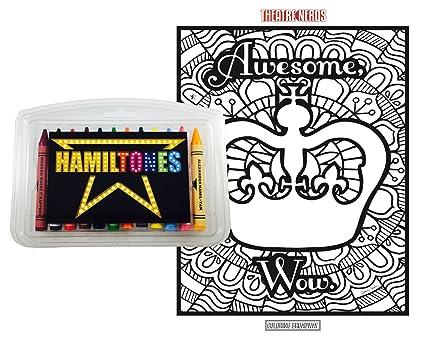 Amazon Com Hamiltones Coloring Gift Set 12 Hamilton Musical