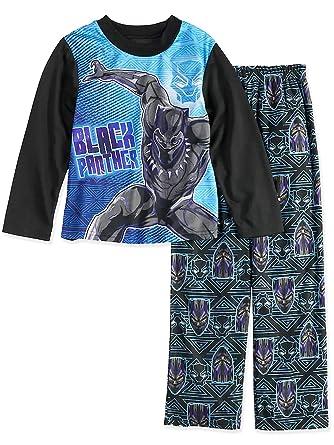 Amazon.com  Marvel Black Panther Boys Long Sleeve 2-Piece Pajamas ... be64cf5b5