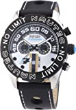 Nautec No Limit Herren-Armbanduhr XL Le Mans Chronograph Quarz Leder LM QZ/LTSTBK